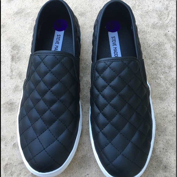 a3465bf4dec Steve Madden Black Quilted Slip On 8.5 NWOT or Box.  M 5cb69010d948a10d65a9a8a4
